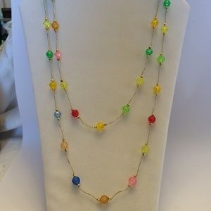 Gorgeous vintage colorful statement necklace